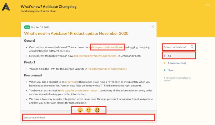 Apicbase Changelog 3