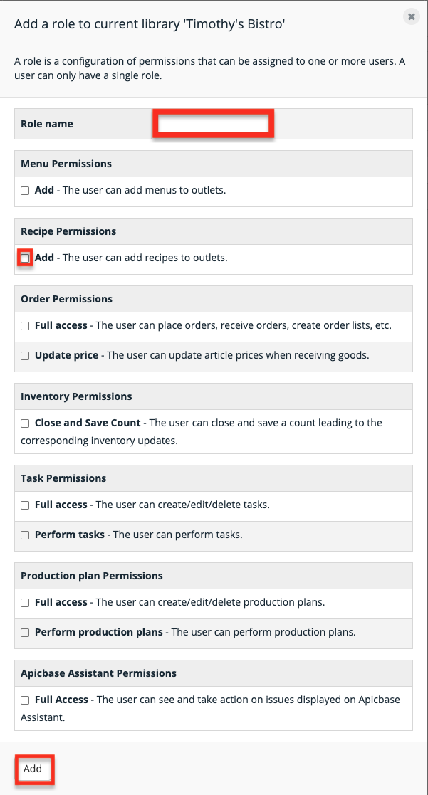 Apicbase Outlet User Roles 2
