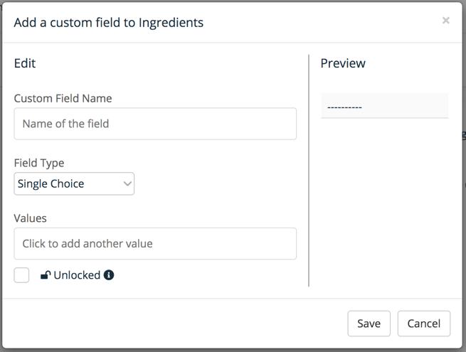 Custom fields 2