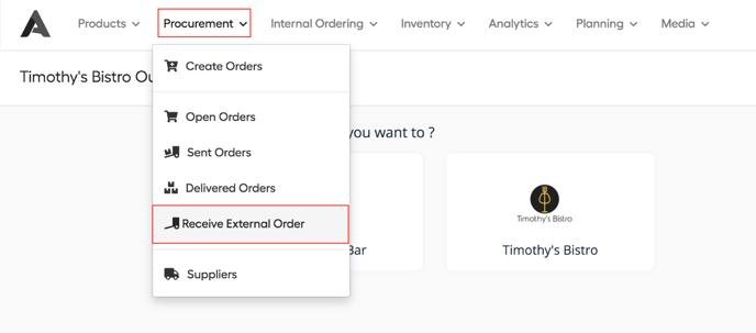 receive external order 1